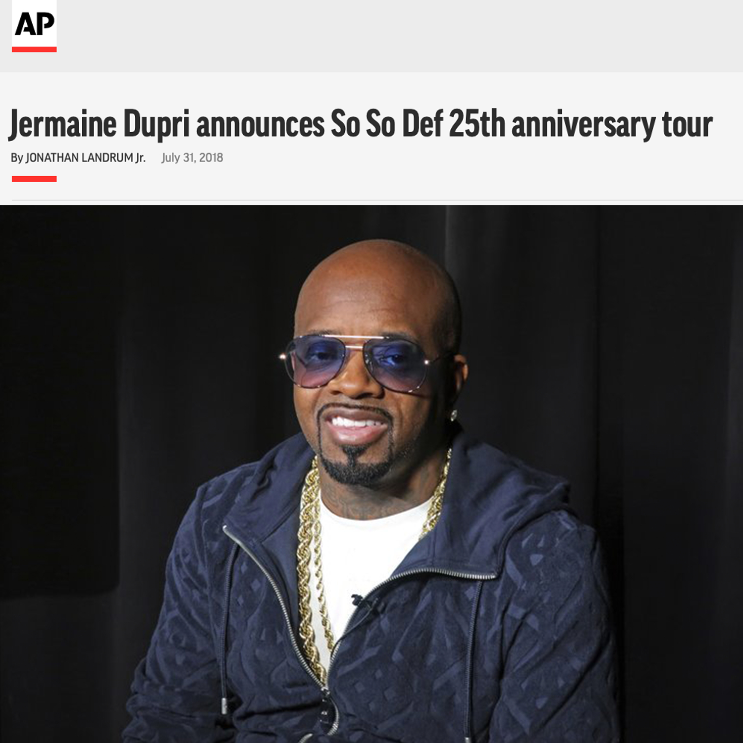 Jermaine Dupri and So So Def on Associated Press