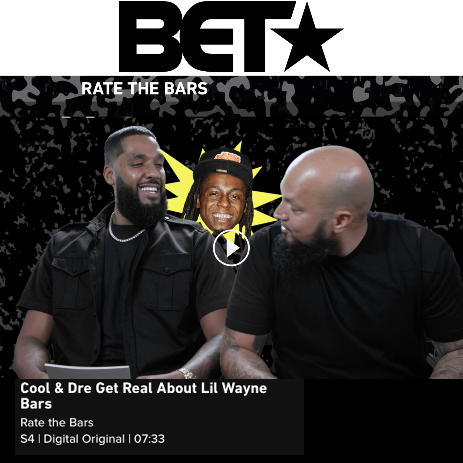 Cool and Dre on BET's Rate The Bars