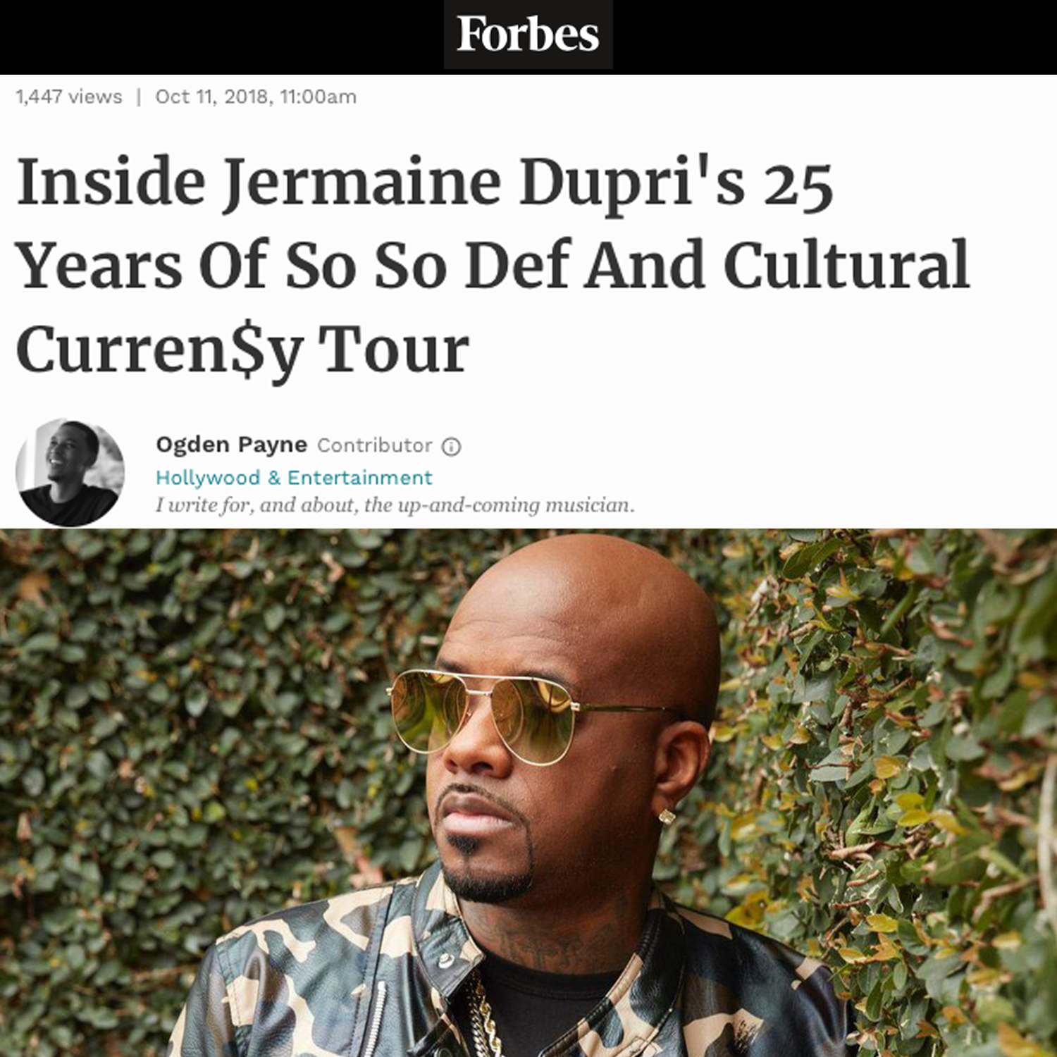 Jermaine Dupri and So So Def on Forbes