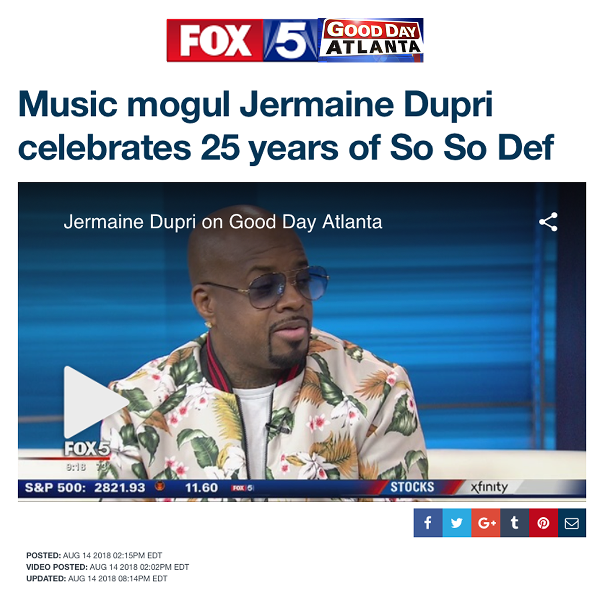 Jermaine and So So Def on Good Day Atlanta
