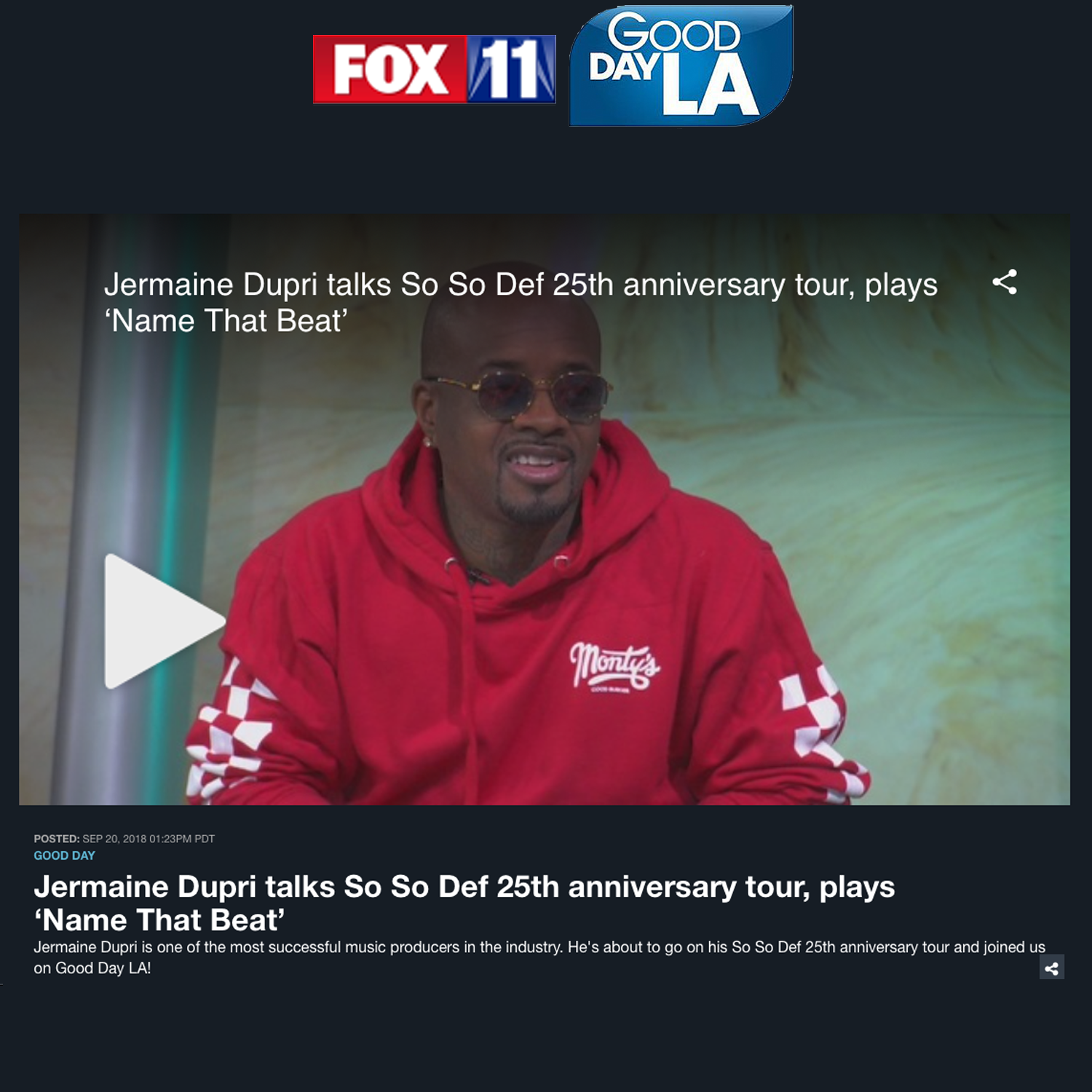 Jermaine Dupri and So So Def on Good Day LA