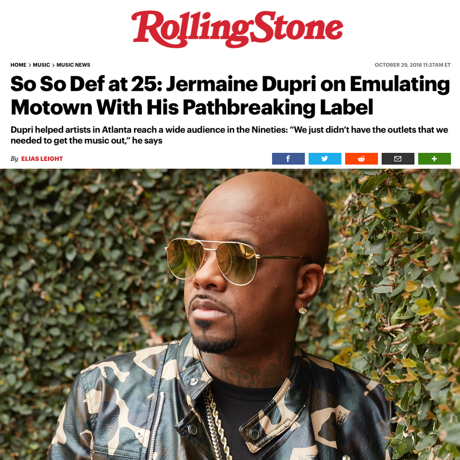 Jermaine Dupri and So So Def in Rolling Stone