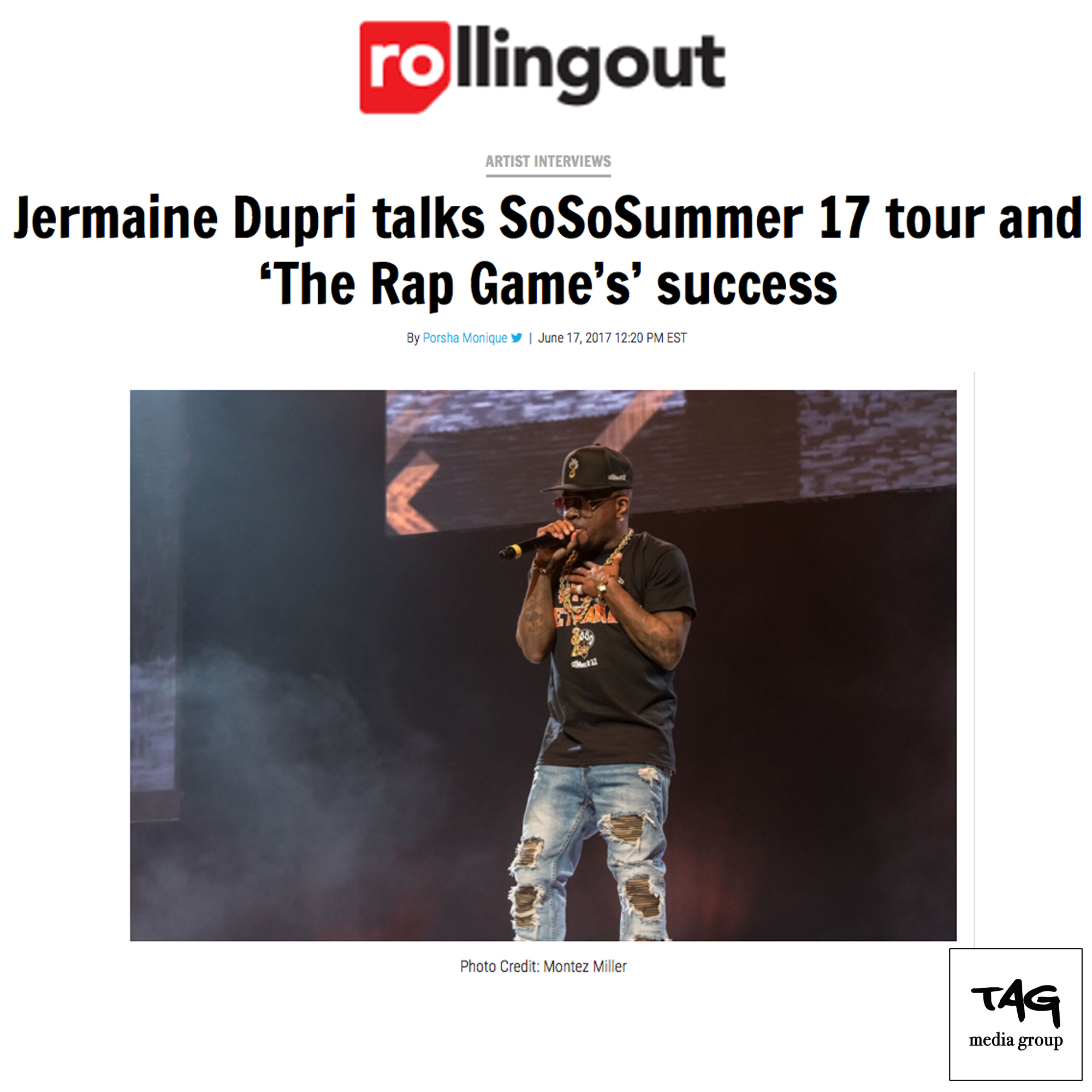 Jermaine Dupri and the So So Summer Tour on Rolling Out
