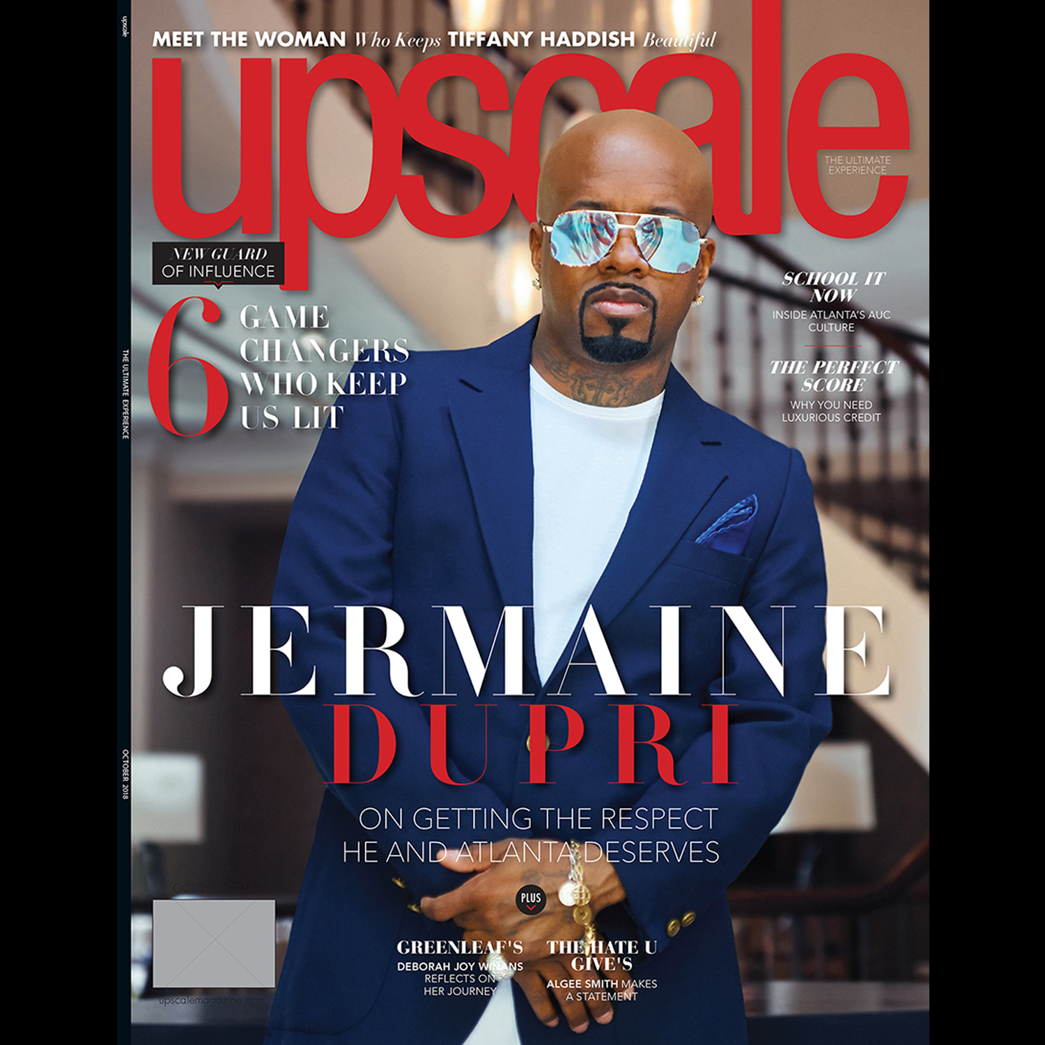 Jermaine Dupri on the Cover of Upscale Magazine