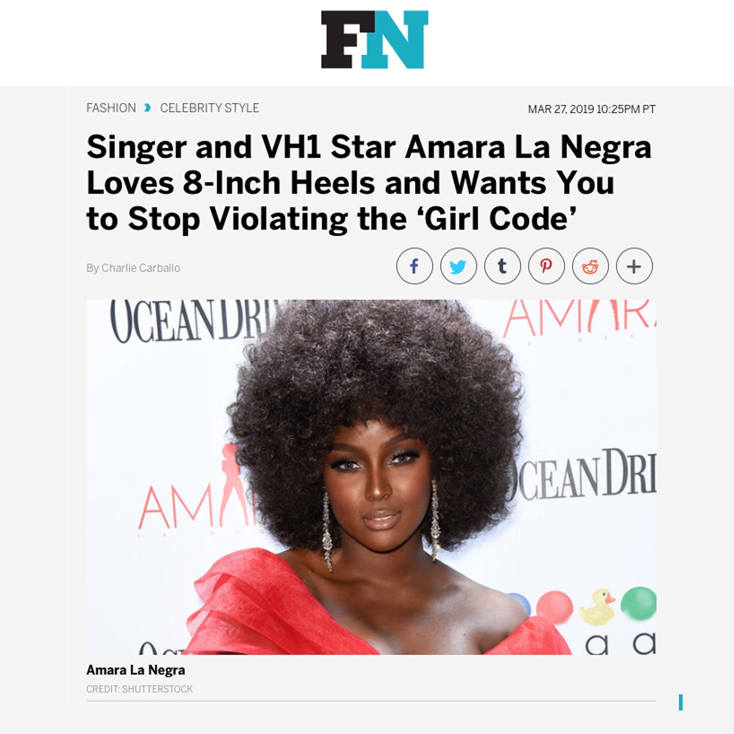 Amara La Negra in Footwear News